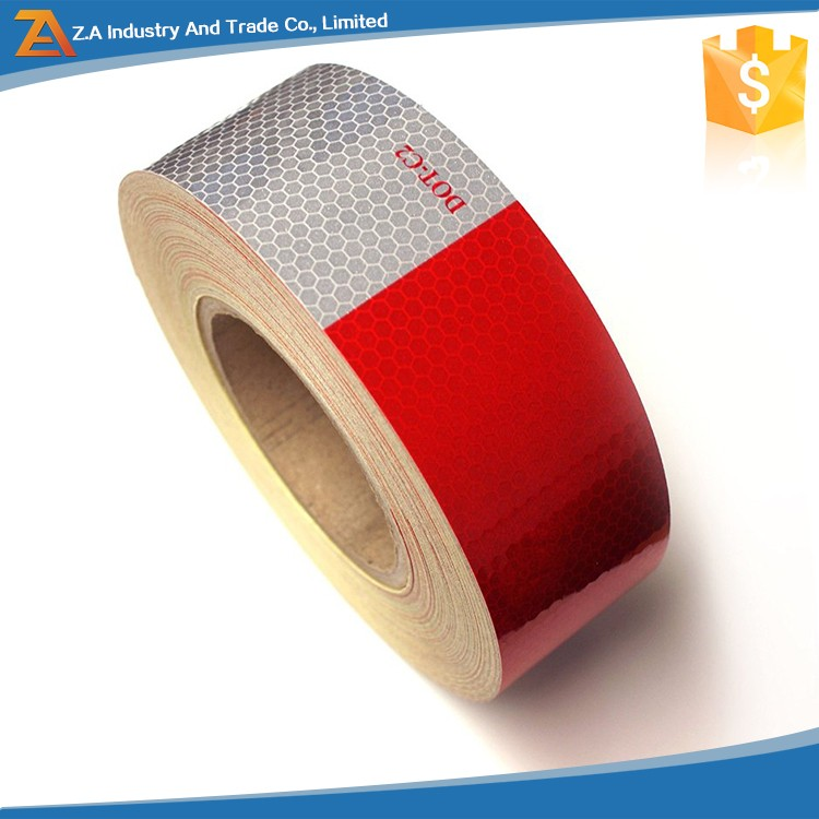 Honeycomb Shape Red and White DOT-C2 Car Adhesive Sticker Sheeting Tape,DOT Trailer Requirements HI-INT-180012