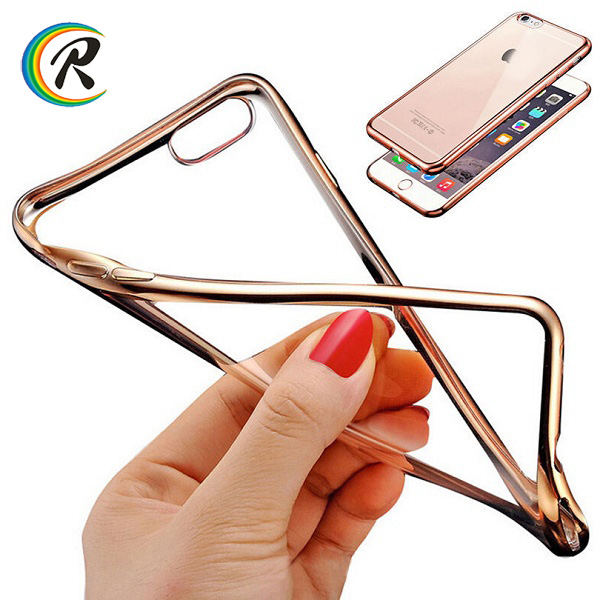 High Clear for iPhone 7 smartphone electroplated cases cover for apple iPhone 7 retail luxury soft phone electroplated case