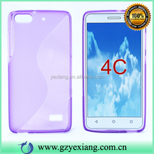 Cheap Price Soft TPU Case S Line Shape For Huawei Honor 4C Cover