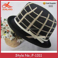 F-1311 new spring ladies knitting church hats to decorate jazz cap for men and women
