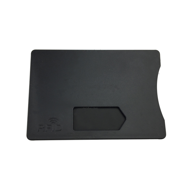 plastic RFID blocking card holder for credit card