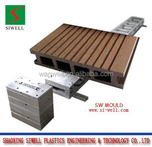 2016 hot sell PVC PE wood plastic garden WPC decking flooring profile extrusion mould/die tool
