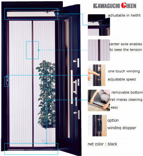 Eco-friendly mesh screen window covering to prevent insect for house, office and etc