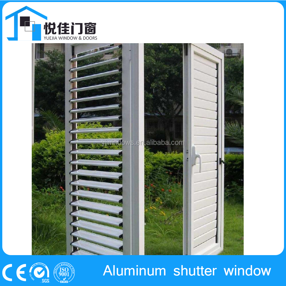Good quality plantation aluminum shutters window excellent shades and ventilation