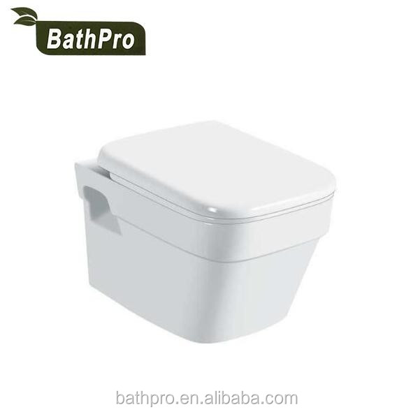 square ceramic Concealed Tank washdown wall hung toilet
