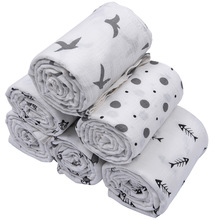 Bamboo Fabric infant Eco-Friendly Baby Muslin Cloth Swaddle Blankets
