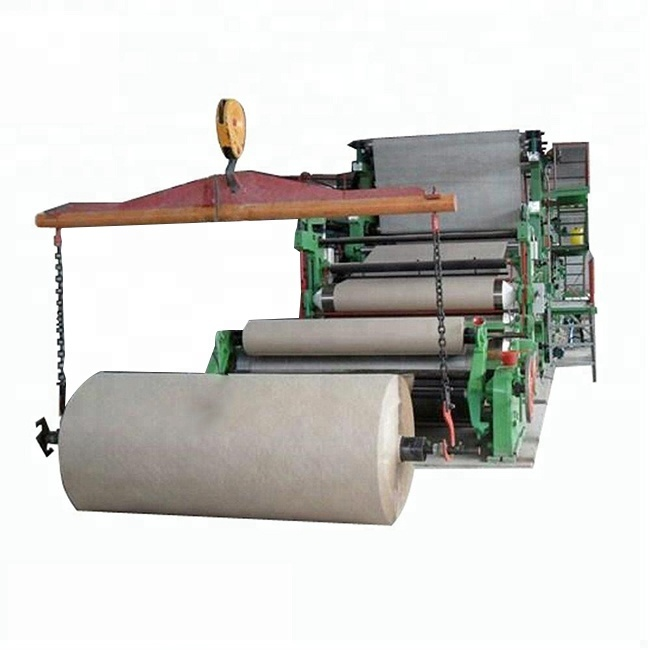 Waste Paper Recycling Machine Prices Brown Carton Kraft Paper Product Making Machinery Production Line