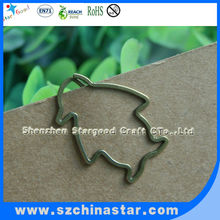 Decorative flat metal shapes spring steel paper clips
