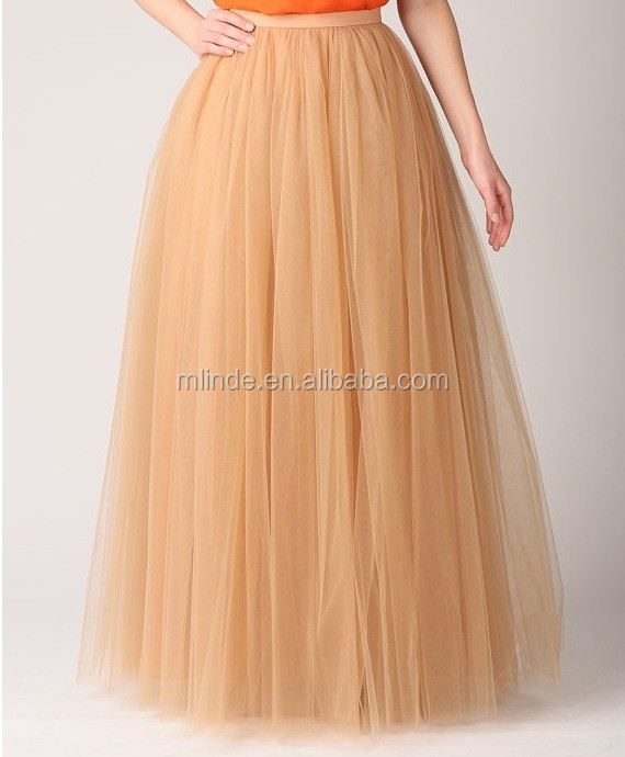 Free Shipping European Style Fashion Fancy Design Tulle: Net Long Skirt
