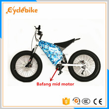 high performance full suspension 9 speed 48v 1000w bafang mid motor electric motorcycle