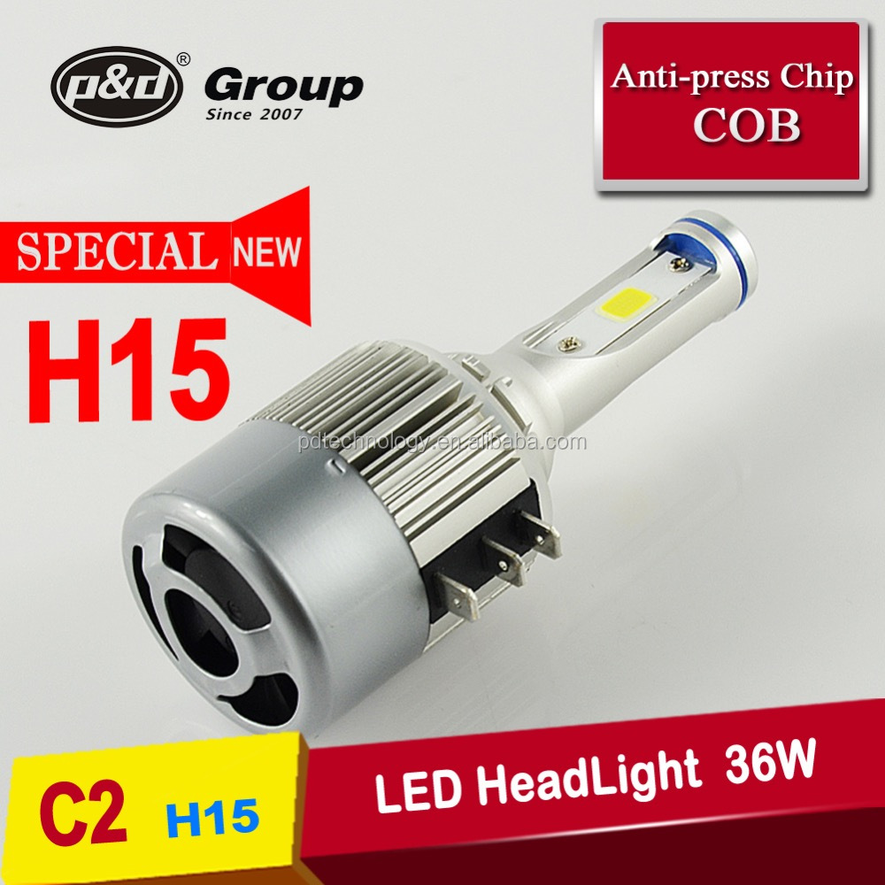Auto Parts, Super White light 36W h15 led error free,h15 led bulb