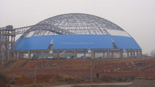 Dome Coal Storage Warehouse Steel Space Frame System Construction Building