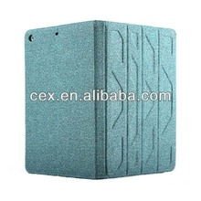 High Quality Classical Double Side Used PU Leather Stand Case For Apple iPad 5 iPad Air