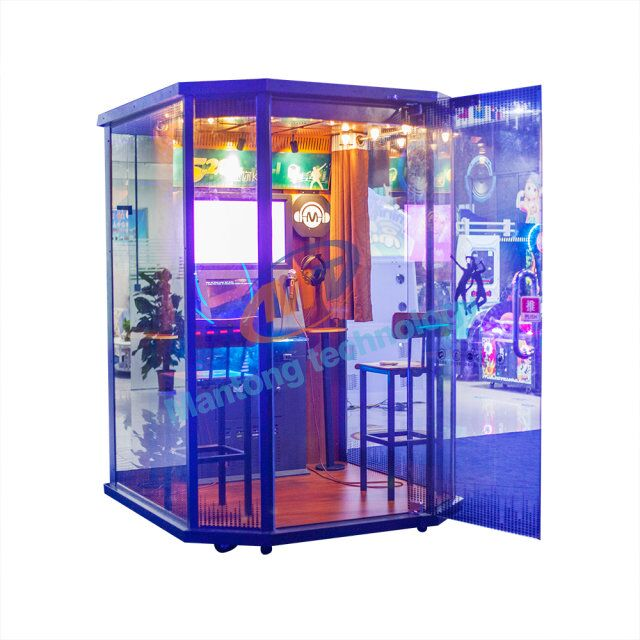Multi - function Mini 520 KTV headset experience mobile practice song room coin - operated jukebox singing game machine
