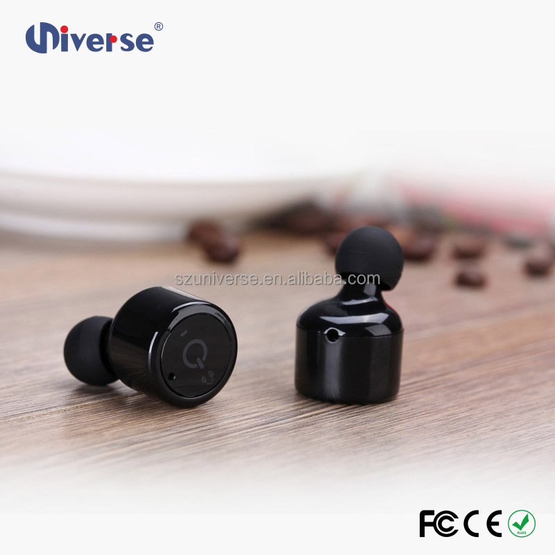 True wireless earbuds high quality bluetooth earphone stereo sound nano earpieces with micro