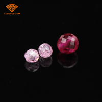 factory ruby price colorful Facted beads Synthetic Corundum gemstone