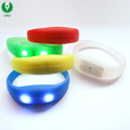 Promotion Custom Silicone Flashing Led Light Bracelet for Party Concert