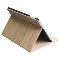 wood grain Leather Cases for apple iPad Air 2 Stand Tablet Case