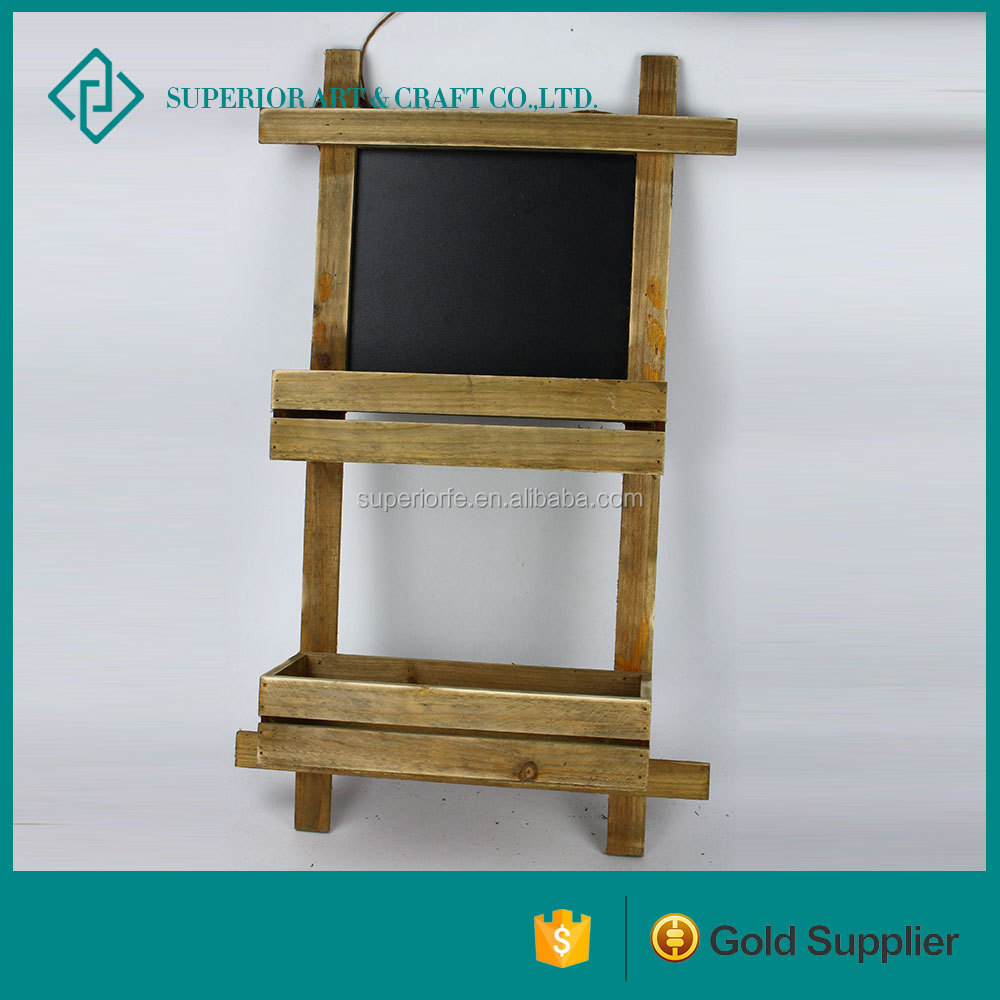 wholesale decorative outdoor framed chalkboard wooden box wooden chalkboard with stand
