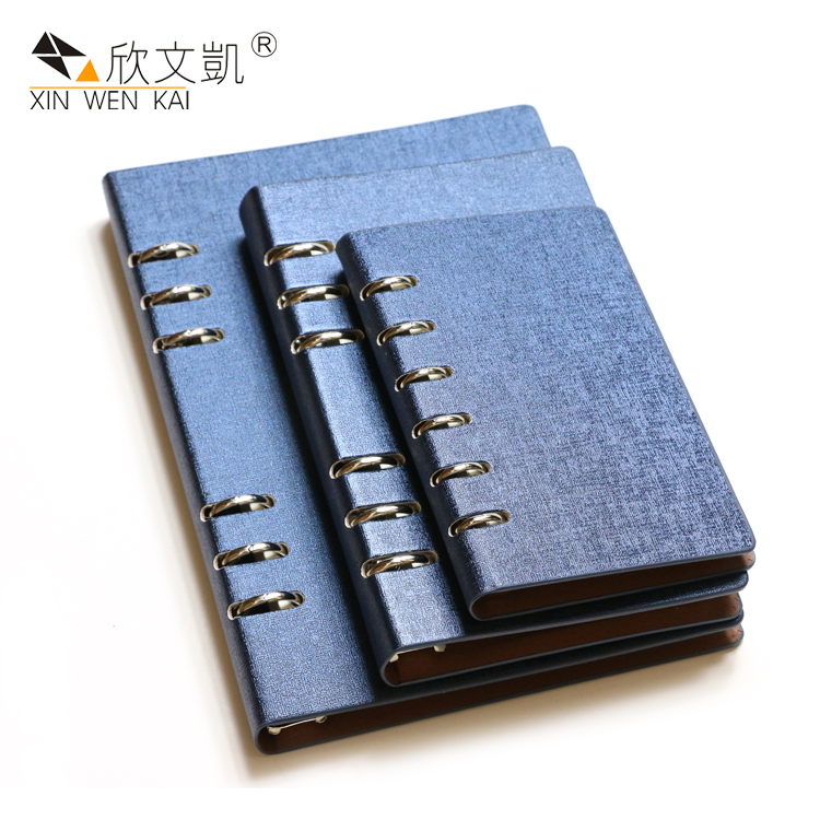Wholesale Eco Friendly Paper Note Book Loose Leaf Pu Leather Notebook