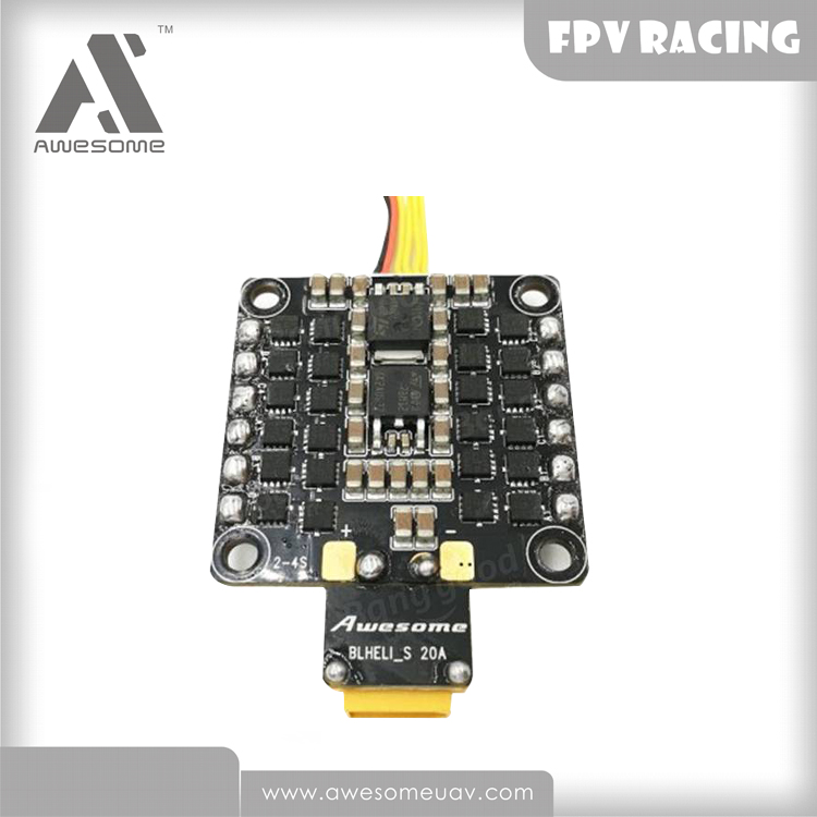 Distribution board PDB Integraded 4-in-1 BLHeli_S 20A ESC for youbi 130