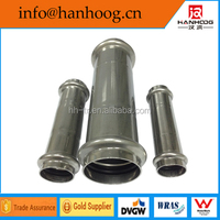 Stainless steel inox slip coupling V profile