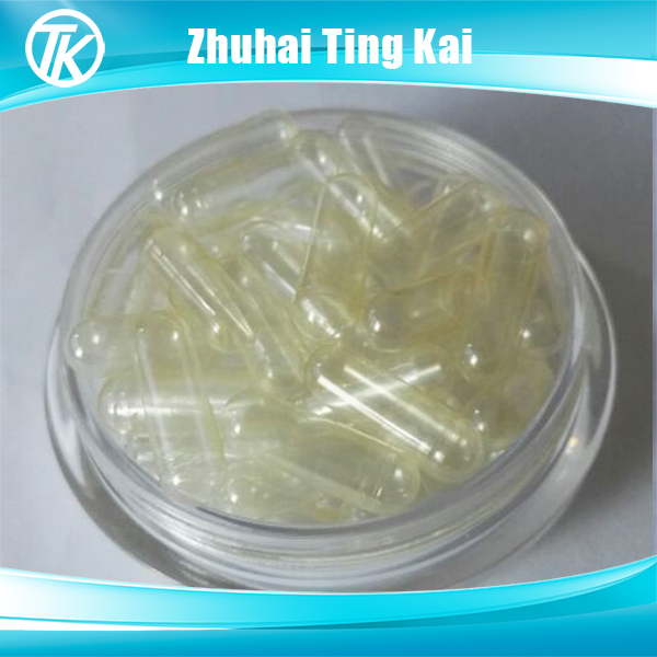 Joined and separated size 00 empty gelatine capsules clear