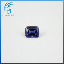 wholesale 113# blue pricess cut synthetic spinel gemstone