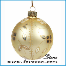 Supply hand painted glass christmas designs , good hand print christmas ball , fashion hand blown glass christmas tree