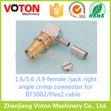 1.6/5.6 L9 jack R/A BT3002/Flex2 cable connector