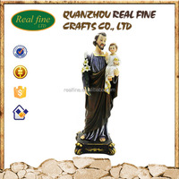 Wholesale Resin Joseph Statue with Baby Figure,