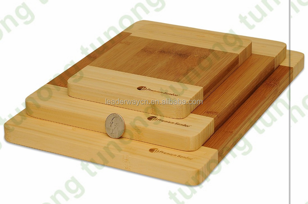 HOME & KITCHEN Totally Bamboo 3 Piece Bamboo Cutting Board Set Durable Chopping Board