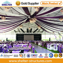 Luxury indoor wedding party tents with beautiful lining