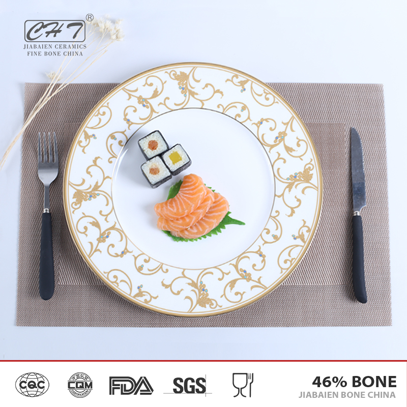 Senior hotel high quality wholesale restaurant 12 inch dinner plates for sale