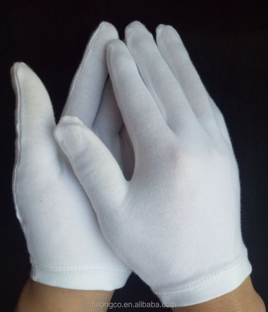 spa White Cotton Gloves