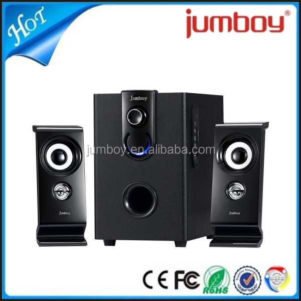 low cost multimedia 2.1 speaker audio equipment