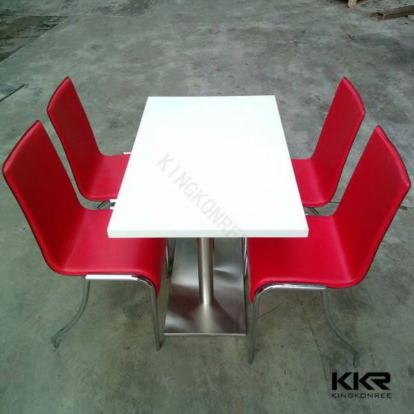 Modern korean solid surface table top,clear acrylic dining table