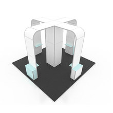 China Good double deck trade show booth displays display stand for