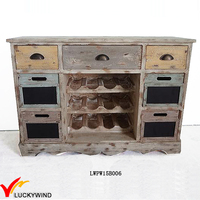 Shabby Chic Handmade Antique Wooden Wine Cabinet