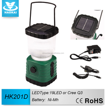 High Bright 19 LED Solar Power Bank Camping Lantern with Hook