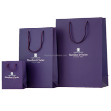 Luxury recyclable paper shopping bag