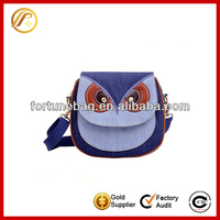 Cute owl bag sling bags for kids made in demin fabric