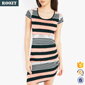 Hot Sale Summer Tight Dresses 2015 Stripe Side Ruched Bodycon Dress