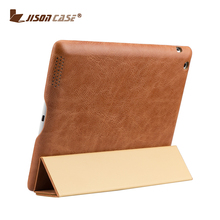 Jisoncase New For iPad 4 2017 Case Leather Flip Stand Cover For iPad genuine leather Tablet Case