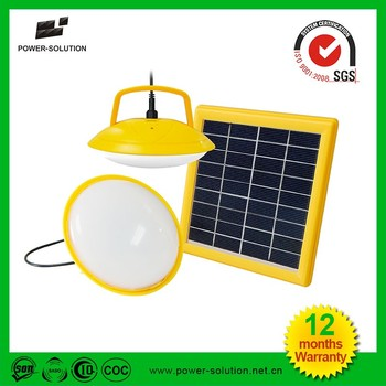 mini solar lamp system lighting with 2W LED bulb