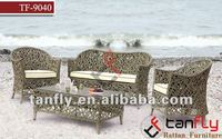 elegant outdoor Rattan sofas Living room furniture Wicker sofa set garden Table & Chairs