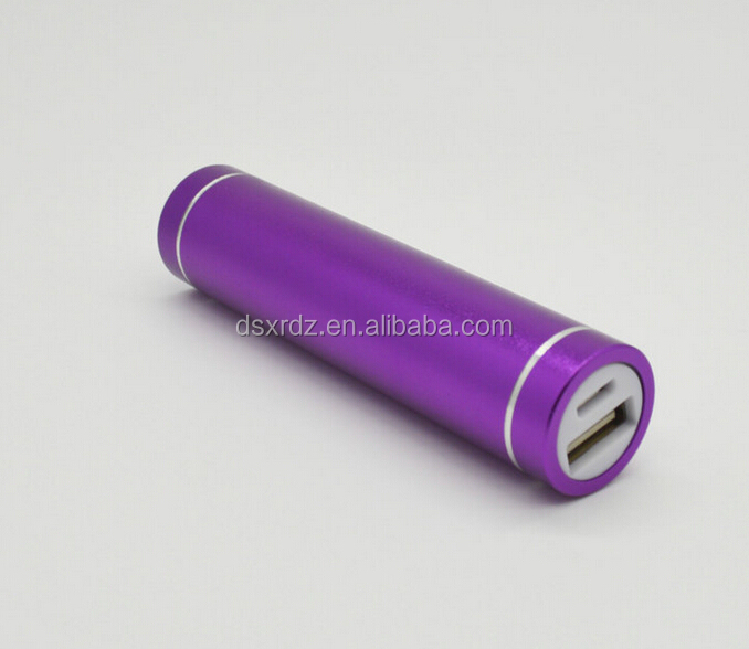 Promotional gift universal battery charger power bank external power tube for digital products
