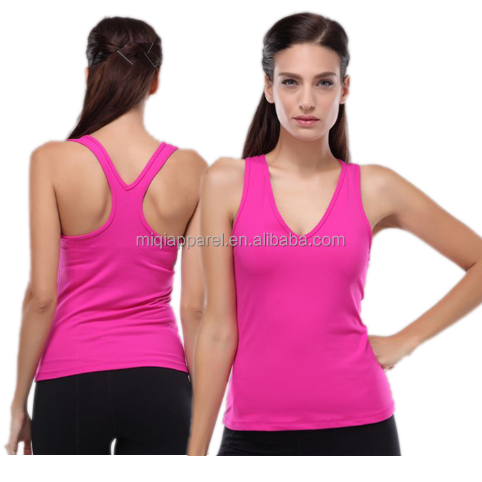 Hot selling athletic apparel manufacturers spandex womens sport bra tank top