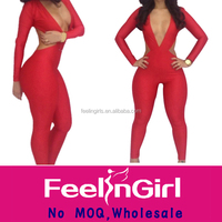 wholesale clearance one piece red sexy ladies evening jumpsuits