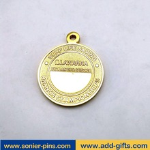 custom acrylic medal stands and ribbon medal with zinc alloy die struck enamel